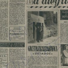 Coleccionismo de Revista Destino: REVISTA 1951 CINE ANTIGUO ESPAÑOL SITIADOS FERNANDO ULLOA CONSUELO RUBIO. Lote 18074490