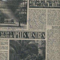 Coleccionismo de Revista Destino: 1954 CASTELLET DEL PENEDES APELES MESTRES CHARLIE RIVEL CIRCO SANTA MARIA DE L' ESTANT ELGORRIAGA. Lote 18156242