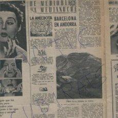 Coleccionismo de Revista Destino: REVISTA 1955 ANDORRA FOTO DE LA MASANA MASSANA CASTELLERS TOSSA DE MAR LOS ANDES POR MIGUEL DELIBES. Lote 18156480