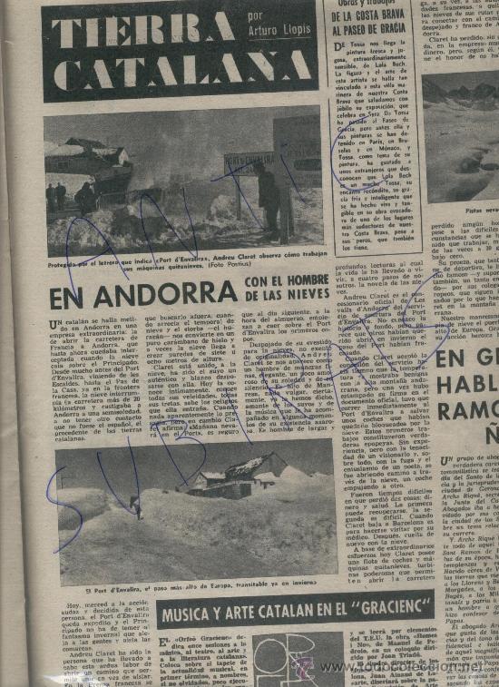 REVISTA1962 ANDORRA PAS DE LA CASA ENVALIRA MUSEO DE RUBI E. CIRLOT NONELL AJEDREZ FEMENINO DEPORTE (Coleccionismo - Revistas y Periódicos Modernos (a partir de 1.940) - Revista Destino)