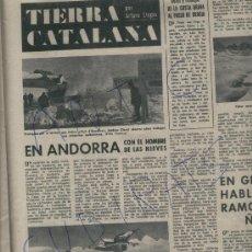 Coleccionismo de Revista Destino: REVISTA1962 ANDORRA PAS DE LA CASA ENVALIRA MUSEO DE RUBI E. CIRLOT NONELL AJEDREZ FEMENINO DEPORTE. Lote 192010780