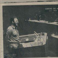 Coleccionismo de Revista Destino: 1960 FIDEL CASTRO EN LA O.N.U. EL DISCURSO MAS LARGO DE LA HISTORIA CUBA ARTA JOSEP MARIA CASTELLET. Lote 18269758