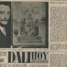 Coleccionismo de Revista Destino: REVISTA 1950 SALVADOR DALI PINTOR. Lote 18278234
