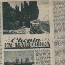 Coleccionismo de Revista Destino: REVISTA 1950 CHOPIN VALLDEMOSA .ESPLANDIU EDGAR ALAN POE LEONARDO PUIG ATLETICO DE MADRID FUTBOL. Lote 18278641