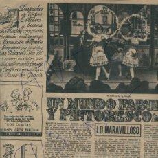 Coleccionismo de Revista Destino: REVISTA 1953 ILUSIONISMO MAGIA FAQUIR MAGO HIRSTON ILUSIONISTA DELPRADE HOUDINI VENTRIL0CUO LLOVET. Lote 18319275