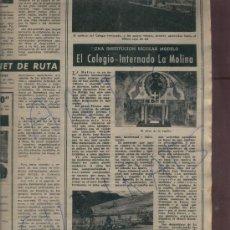 Coleccionismo de Revista Destino: REVISTA 1953 ESTACION DE ESQUI Y INTERNADO LA MOLINA VAN GOGH CORPUS EN ARGENTONA PICASSO ESCRITOR. Lote 18567294