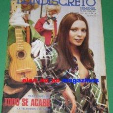 Coleccionismo de Revista Destino: EL INDISCRETO SEMANAL 16/1975 PILAR VELAZQUEZ Y MARIA SALERNO ~ MUY RARA. Lote 27233112