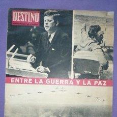 Coleccionismo de Revista Destino: REVISTA DESTINO-Nº1316-27 OCT.1962-ENTRE LA GUERRA Y LA PAZ-SANTIAGO NADAL-JOSE PLA-EL CONCILIO-. Lote 20796795