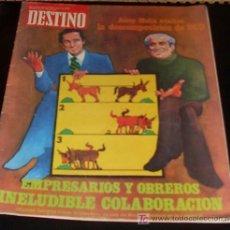 Coleccionismo de Revista Destino: REVISTA DESTINO - Nº 2117 - MAYO 1978. Lote 26468970