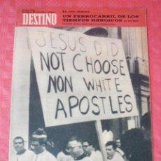 Coleccionismo de Revista Destino: REVISTA DESTINO-Nº1485-22 ENERO 1966-TORTOSA- Y LA CAVA ,EL VIEJO FERROCARIL-JOSE BAYERRI-. Lote 21555776