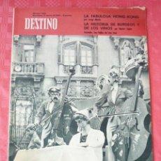 Coleccionismo de Revista Destino: REVISTA DESTINO-Nº1284-17 MARZO-1962-LAS FALLAS-62-BURDEOS Y SUS VINOS-NESTOR LUJAN-. Lote 21556848