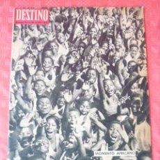 Coleccionismo de Revista Destino: REVISTA DESTINO-Nº1963-19.ENERO-1963-GABON-VAZQUEZ FIGUEROA -CIRCO,ALEXANDRE BUGNY. Lote 21595484