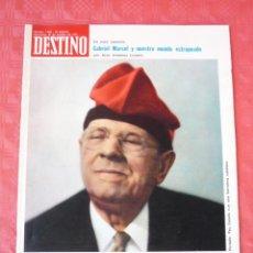 Coleccionismo de Revista Destino: REVISTA DESTINO-Nº-1882 OCTUBRE1973-EN LA MUERTE DE PAU CASALS,XAVIER MONTSALVATGE-JOSE CASANOVA. Lote 21606173
