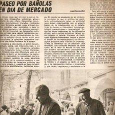 Coleccionismo de Revista Destino: ÑO 1966 MERCADO BANYOLES BAÑOLAS SANTES CREUS BALLET TOSSA CAMPARI ARTURO POMAR AJEDREZ JACQUES BREL. Lote 22310751