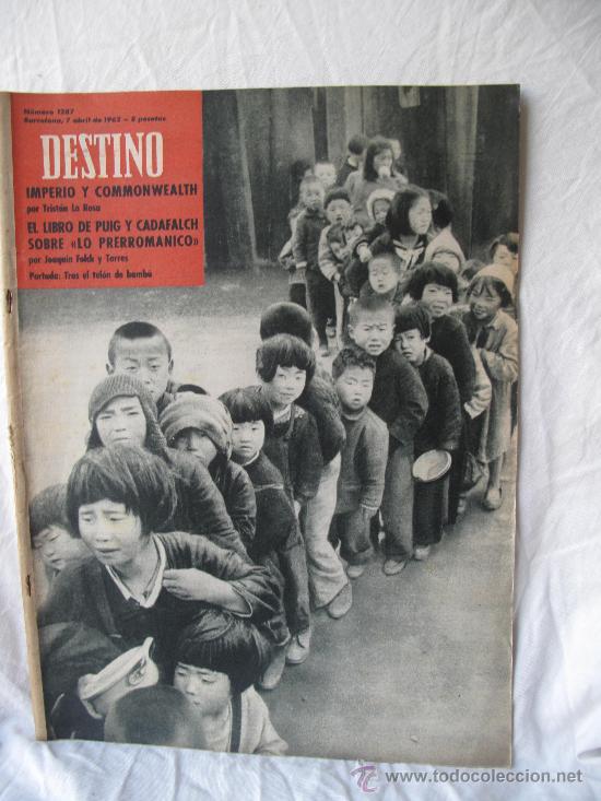 REVISTA DESTINO N.1287 (Coleccionismo - Revistas y Periódicos Modernos (a partir de 1.940) - Revista Destino)