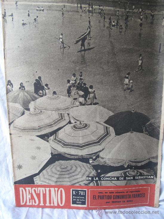 REVISTA DESTINO N.781 (Coleccionismo - Revistas y Periódicos Modernos (a partir de 1.940) - Revista Destino)