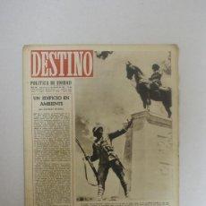 Colecionismo da Revista Destino: REVISTA DESTINO- POLITICA DE UNIDAD, EN LA FOTO UNA VISTA PARCIAL DEL MONUMENTO A ATATURKO- NUM:291. Lote 24050992