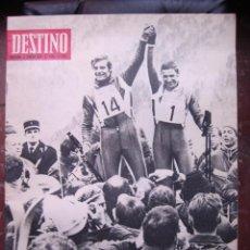Coleccionismo de Revista Destino: REVISTA DESTINO 17 FEBRERO 1968 PORTADA JUEGOS OLÍMPICOS DE INVIERNO. Lote 27987498