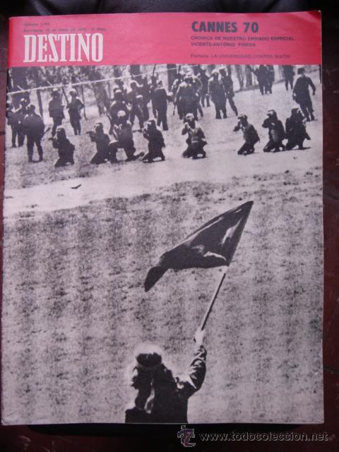 REVISTA DESTINO 16 MAYO 1970 PORTADA LA UNIVERSIDAD CONTRA NIXON (Coleccionismo - Revistas y Periódicos Modernos (a partir de 1.940) - Revista Destino)