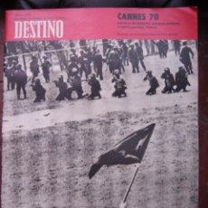 Coleccionismo de Revista Destino: REVISTA DESTINO 16 MAYO 1970 PORTADA LA UNIVERSIDAD CONTRA NIXON. Lote 27987727