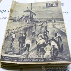 Coleccionismo de Revista Destino: LOTE DE 36 REVISTAS DESTINO DIFERENTES DE ENERO A DICIEMBRE AÑO 1955. Lote 29489244