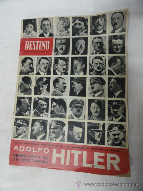REVISTA DESTINO - HITLER -. (Coleccionismo - Revistas y Periódicos Modernos (a partir de 1.940) - Revista Destino)