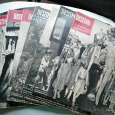 Coleccionismo de Revista Destino: 8 REVISTAS DESTINO DE LOS AÑOS 1.957-1.958-1.960 Y 1.961- VER RELACIÓN -. Lote 31171608