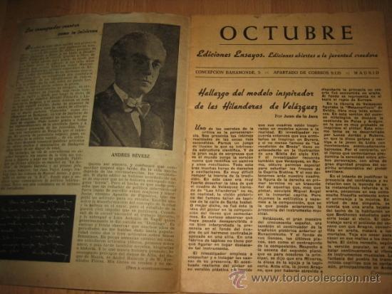 Coleccionismo de Revista Destino: OCTUBRE REVISTA LITERARIA.EL PORQUE DE LA ACTUAL CRISIS LITERARIA EN ESPAÑA.LOS TOROS Y LOS HERMANOS - Foto 2 - 31205624
