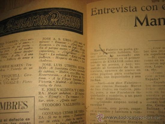 Coleccionismo de Revista Destino: OCTUBRE REVISTA LITERARIA.EL PORQUE DE LA ACTUAL CRISIS LITERARIA EN ESPAÑA.LOS TOROS Y LOS HERMANOS - Foto 4 - 31205624