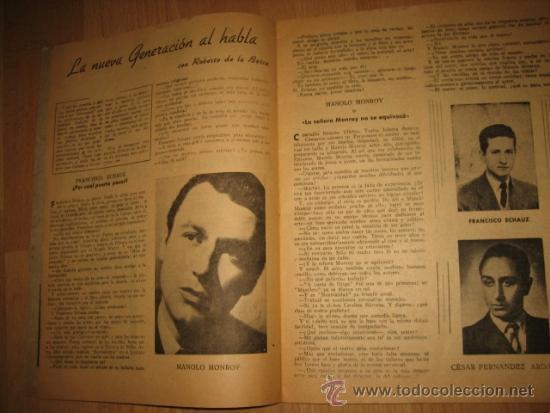 Coleccionismo de Revista Destino: OCTUBRE REVISTA LITERARIA.EL PORQUE DE LA ACTUAL CRISIS LITERARIA EN ESPAÑA.LOS TOROS Y LOS HERMANOS - Foto 6 - 31205624