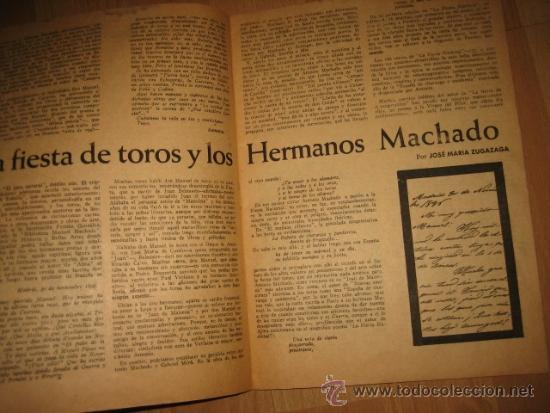 Coleccionismo de Revista Destino: OCTUBRE REVISTA LITERARIA.EL PORQUE DE LA ACTUAL CRISIS LITERARIA EN ESPAÑA.LOS TOROS Y LOS HERMANOS - Foto 7 - 31205624