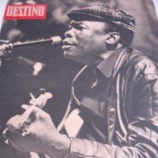 Coleccionismo de Revista Destino: REVISTA DESTINO LEE HOOKER. Lote 31284720