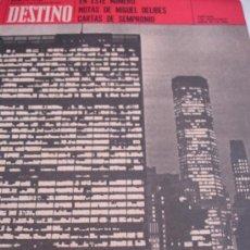 Coleccionismo de Revista Destino: REVISTA DESTINO MIGUEL DELIBES CARTA DE SEMPRONIO. Lote 31284757