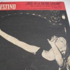Coleccionismo de Revista Destino: REVISTA DESTINO CRISIS EN LA CULTURA CATALANA. Lote 31300159