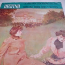 Coleccionismo de Revista Destino: REVISTA DESTINO BARCELONA CASAS. Lote 31302544
