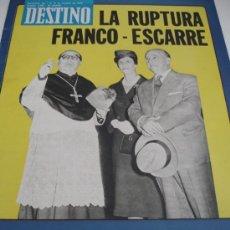 Coleccionismo de Revista Destino: REVISTA DESTINO FRANCO. Lote 31302834