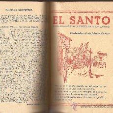 Coleccionismo de Revista Destino: VOLUMEN ENCUADERNADO DE LA REVISTA POPULAR EL SANTO. BAJO LA PROTECCIÓN DE SAN ANTONIO. SANTANDER. Lote 32654970