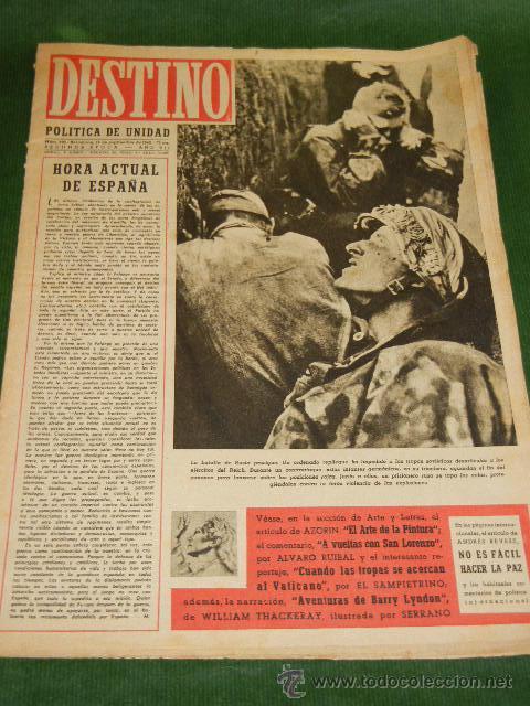 DESTINO N.322 - 18 SEPTIEMBRE 1943 (Coleccionismo - Revistas y Periódicos Modernos (a partir de 1.940) - Revista Destino)