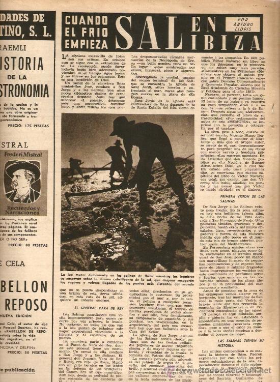 Coleccionismo de Revista Destino: AÑO 1952 VIENA ROJA PLA SALINAS DE IBIZA SEGARRA MONTSERRAT JUNOY LACRIMA BACCUS NADAL - Foto 3 - 10873900