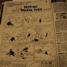 Colecionismo da Revista Destino: LA ACTUALIDAD ESPAÑOLA Nº 525 25-1-1962 - HERGE: DESTINO NUEVA YORK - CARLITOS DE SCHULZ, SUIZA, ETC. Lote 33226408