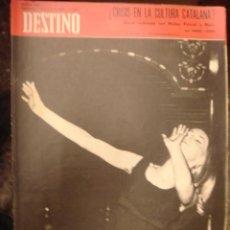 Coleccionismo de Revista Destino: REVISTA DESTINO Nº 1692. AÑO 1970-CRISIS EN LA CULTURA CATALANA?. Lote 34576790