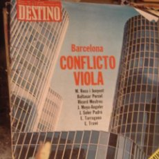 Coleccionismo de Revista Destino: REVISTA DESTINO Nº 1995 AÑO 1975. BARCELONA CONFLICTO VIOLA. Lote 34614432