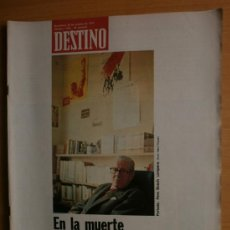 Collectionnisme de Magazine Destino: DESTINO Nº1934.AÑO 1974.BOSCH GIMPERA,MIQUEL OLIVA,K.ZANUSSI,P.PICASSO,G.UNGARETTI,LUIS BUÑUEL.. Lote 36750872