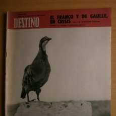 Collectionnisme de Magazine Destino: DESTINO Nº1626.1968.LOUIS ARAGON,ELISA LAMAS,DE GAULLE,PEDRO VIDAL,GINEBRA,GARCIA MARQUEZ,J.UPDIKE.. Lote 36900584