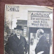 Coleccionismo de Revista Destino: DESTINO. Nº 1.050. BARCELONA,21 SEPTIEMBRE 1957. IZMIR,CARTAS DE TURQUÍA,DE ASTURIAS A SANTILLANA. Lote 37725760
