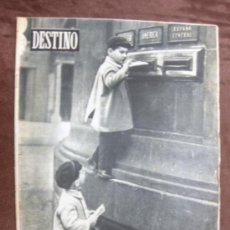 Coleccionismo de Revista Destino: DESTINO. Nº 908.BARCELONA,1 ENERO 1955. CONTRAPORTADA PUBLICIDAD NESTLÉ,ALEMANIA,STALIN,.... Lote 37726082