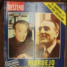 Coleccionismo de Revista Destino: DESTINO. Nº 1969.BARCELONA 28 JUNIO 1975. . Lote 37726221