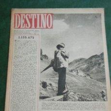 Coleccionismo de Revista Destino: DESTINO N.477 - 7 SEPTIEMBRE 1946. Lote 38164113