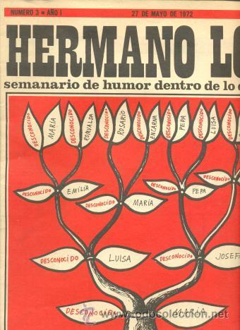 HERMANO LOBO -SEMANARIO DE HUMOR DENTRO DE LO QUE CABE Nº 3 SUMMERS EL PERICH FORGES CHUMY CHUMEZ (Coleccionismo - Revistas y Periódicos Modernos (a partir de 1.940) - Revista Destino)