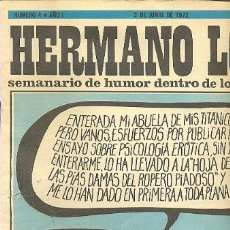 Coleccionismo de Revista Destino: HERMANO LOBO -SEMANARIO DE HUMOR DENTRO DE LO QUE CABE Nº 4 SUMMERS EL PERICH FORGES CHUMY CHUMEZ. Lote 38854748